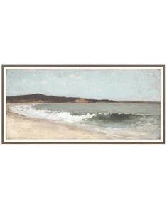 Our art pieces are made to order and cannot be canceled, returned or exchanged. Painting Inspiration, Art Inspo, Beach Frame, Winslow Homer, Eagle Head, Landscape Art, Watercolor Landscape, Home Art, Framed Art