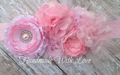 Hey, I found this really awesome Etsy listing at https://www.etsy.com/listing/126789198/sweet-pink-maternity-sash-photography
