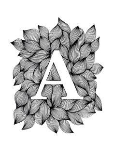 Ellen van de Sande - Palatino bold (Ink on paper, 21 x 30 cm) Easy Doodle Art, Doodle Art Designs, Doodle Art Drawing, Dark Art Drawings, Zentangle Drawings, Mandala Drawing, Doodle Patterns, Art Drawings Sketches, Zentangle Patterns