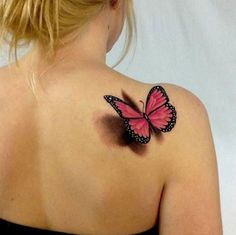 3D Butterfly Tattoo by Lindsay Harper Johnson