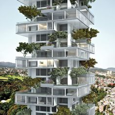 Gallery of Residential Tower / Meir Lobaton + Kristjan Donaldson - Gallery of Residential Tower / Meir Lobaton + Kristjan Donaldson - 23 Szintén az eltolt szintekben gondolkodott az a mexikói tervezőpáros, akik ez. Green Architecture, Concept Architecture, Futuristic Architecture, Sustainable Architecture, Residential Architecture, Amazing Architecture, Architecture Design, Building Architecture, Contemporary Architecture