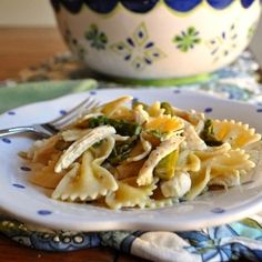 Spring Pasta - pasta with asparagus, chicken and Parmesan