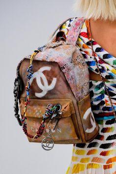 $3,400 Graffiti 'Art School' Backpack @ CHANEL Spring 2014