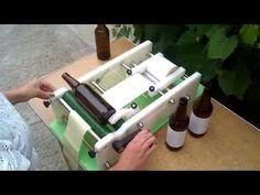 Manual Labeling Machine - YouTube