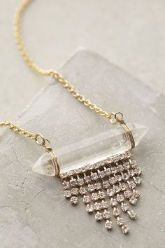 in a silver version.....Lucent Fringe Necklace - anthropologie.com