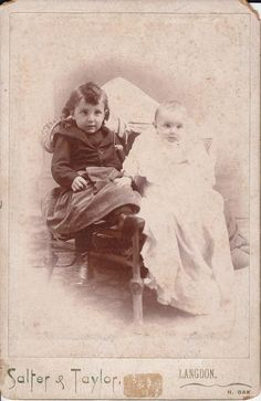 very old photograph of 2 children