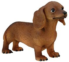 The Zedign House - Store: Sculpture: Dachshund Puppy / Dog - Collectible Figurine Statue Sculpture Figure