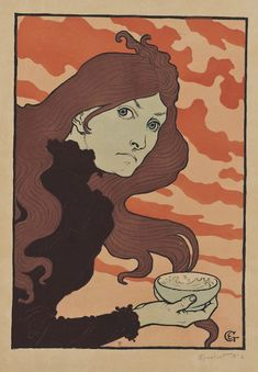 """Eugene Grasset, """"The Acid Thrower"""",1894, photo-relief with water-color stenciling"""