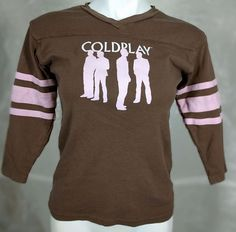 Rare Coldplay Twisted Logic Tour 2006 Brown/Pink Long sleeve shirt- Size L