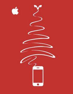 Apple iPhone Earbud Christmas tree!
