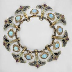 Lalique Necklace with opals, amethyst, gold and fine enamel work- at the Metropolitan Museum of Art, New York City, New York