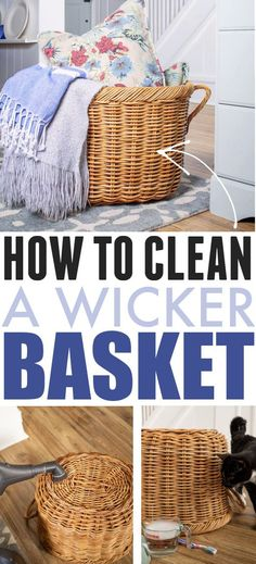 How to Clean Wicker Baskets | The Creek Line House Diy Cleaning Products, Cleaning Hacks, Home Decor Items, Diy Home Decor, Thrifty Decor, Craft Projects For Kids, Diy Projects, Organizing Your Home, Organizing Tips