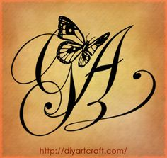 Ag Letters Tattoo Designs By Diyartcraft Com Tags