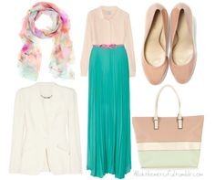 Spring maxi skirt outfit