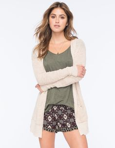 FULL TILT Essential Womens Hooded Cardigan 265191425 | Essentials