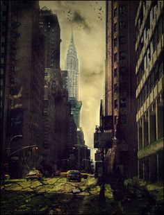 Post-Apocalyptic NYC by ~eviex on deviantART