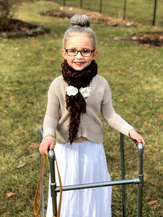 Aubrey all dressed up for 100th day!  100thday  oldlady  justlikegram   owlforgran 224042b40f3e7