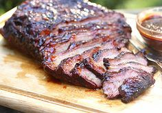 Hickory Smoked Beef Brisket. I will try to make this before the year is over!