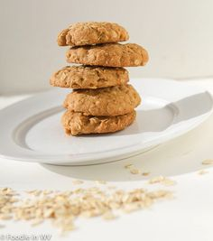 Gluten Free Reduced Sugar Oatmeal Cookies Recipe