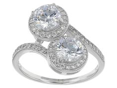 Bella Luce (R) 3.20ctw Rhodium Over Sterling Silver Ring (2.04ctw Dew)