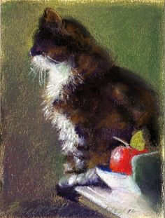 This painting reminds me of our kitty Patches. She was beautiful and so sweet. She lived to be 19.