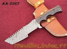 AA-526T  DAMASCUS CUSTOM HAND MADE BEAUTIFUL TRACKER KNIFE, G10 MICARTA HANDLE. #BestSteelWarrior