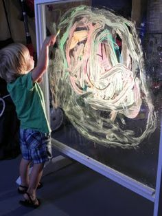Paint BIG using a light, paint and clear window