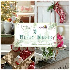 Rusty Hinge  |  rustyhinge.blogspot.com  |  2016 Holiday Housewalk  ~  Home for Christmas