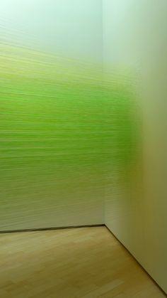 "Anne Lindberg, ""Andante Green"" fiber installation"