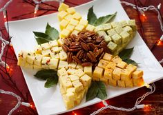 christmas parties, holiday, party appetizers, parti appet, food, cheese trays, cheddar star, christma cheddar, christmas stars
