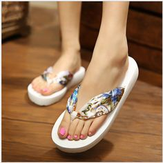 Flip flops shoes woman cool flat heel casual seaside fashion