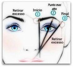 Eyebrow Makeup Tips, Makeup Guide, Hair Makeup, Makeup Over 50, Eyebrow Design, Make Up Tricks, Pinterest Makeup, Eyebrow Tutorial, Makeup Store