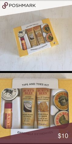 Burt's 🐝 tips and toes kit Burt's bees tips and toes kit. Never used. Burt's Bees Other