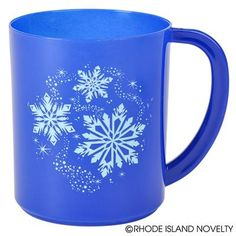 Your guests are sure to feel festive with these Snowflake Mugs. Each plastic mug is beautifully decorated with snowflake that are sure to set the tone for your ice princess or winter wonderland-themed party. Stuff them with goodies as position at place settings to make your guests feel special. Each dozen in display box. #snowflake #mugs #partyplanning #Christmas #holidays