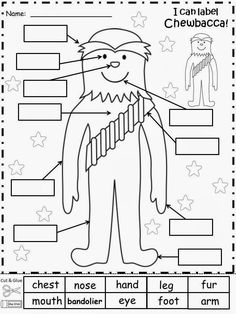 Star Wars Lesson Plans Worksheets Unique Free Chewbacca Labels From Star Wars for Educational