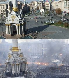 pictures of ukraine before and after   Before and After, Kiev, Ukraine.
