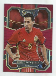 17/18 Panini Select Sergio Busquets Terrace Red Prizm #d 186/199 SPAIN  | eBay Football Cards, Baseball Cards, World Cup Russia 2018, Wayne Rooney, Fifa World Cup, The Selection, Terrace, Barcelona, Spain