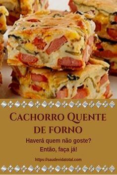 Cachorro quente de forno Snack Recipes, Snacks, Portuguese Recipes, Kefir, Lasagna, Hot Dogs, Carne, Sandwiches, Food And Drink