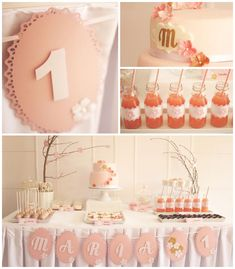 Cherry Blossom 1st birthday party with Lots of REALLY CUTE IDEAS via kara's party ideas! full of decorating ideas, dessert, cake, cupcakes, ...