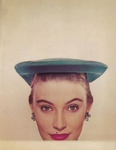 There's a subtly futuristic vibe to this chic, minimalist hat from 1951.