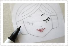 Embroidery How-To: Tracing Paper & Transfer Pens by Jenny Hart at Sublime Stitching