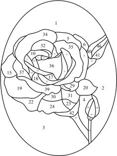 My 6 yr old daughter Megan kindly helped me with this beautiful stained glass rose pattern. She did the color example for you. I hope you ...