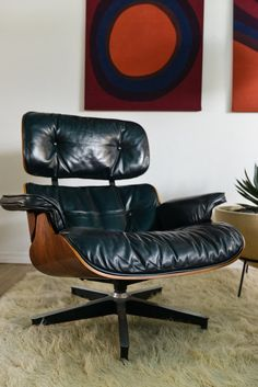 Get cozy in a vintage Eames lounge chair. #etsy #eames #furniture