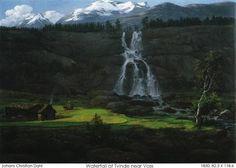 Johan Christian Dahl (1788–1857): Waterfall near Tvinde near Voss
