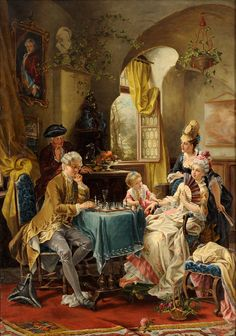 The next move will decide, Carl Herpfer (1836-1897)