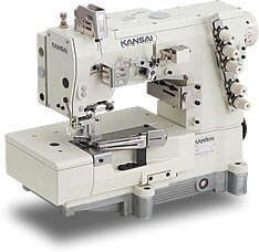 KANSAI SPECIAL  WX-8803 FLAT BED COVERSTITCH WX Series Is A Flatbed, High Speed, High Performance, With Top And Bottom Coverstitch That Have From 1 Needle (Model LX) To 4 Needles (Model WX-8803-1S). It Is Possible To Be Applied For Many Types Of Fabric And Operation Like Plain Stitch, Covering, Attaching Elastic Lace, Taping, Attaching Pocket Facing, Shell Stitching Plus Tape Binding, And So On. Stitch Length Can Be Adjusted By Pushbutton Easily (Max. About 4mm, 6 Stitch/ Inch). This Series…