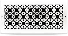 Custom Metal: Bella - Pacific Register Company Wood Floor Finishes, Decorative Screen Panels, Cnc Cutting Design, Privacy Panels, Vent Covers, 2d Design, Massage Room, Custom Metal, Architecture Details