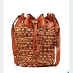 "Lucky brand bag - Adjustable shoulder strap - Drawstring and magnetic snap closure - Exterior features woven construction  - Interior features 1 wall zip pocket, and 2 slip pockets - Approx. 15.5"" H x 11.5"" W x 5"" D - Approx. 26"" strap drop ❗️price firm ❗️ Lucky Brand Bags Crossbody Bags"