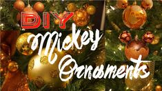 I made this video to share you how I made these Mickey inspired ornaments! I think this easy DIY is great for the Holidays and if. Mickey Mouse Ornaments, Easy Diy, Christmas Bulbs, Holiday Decor, Youtube, Christmas Light Bulbs, Youtubers, Youtube Movies