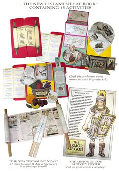 New Testament activity pack from Homeschool in the Woods. I have Old Testament, but I still need to get this one. Lds Seminary, Book Libros, Religion Catolica, History Activities, Homeschool Curriculum, Homeschooling, Armor Of God, Religious Education, Sunday School Crafts